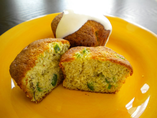 Mike's Renegade Jalapeno Banana Muffins with Cream Cheese Frosting