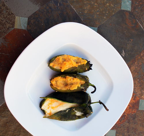 Cheesy Potato Jalapeno Poppers - Grilled Stuffed Jalapeno Peppers