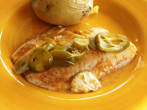 Creole Rubbed Tilapia with Jalapeno Peppers